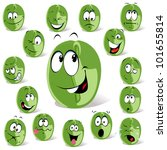 green coffee bean cartoon | Shutterstock .eps vector #101655814
