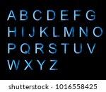 vector alphabet set geometric... | Shutterstock .eps vector #1016558425