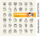 e learning  online education... | Shutterstock .eps vector #1016573704