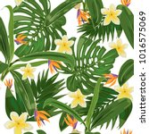 seamless pattern with tropical... | Shutterstock .eps vector #1016575069
