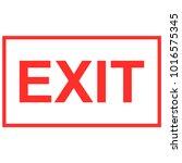 exit sign vector   Shutterstock .eps vector #1016575345