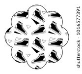 flower pattern shape label with