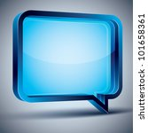 speech bubble 3d modern style ... | Shutterstock .eps vector #101658361
