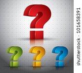 3d Question Mark Vector Icon ...