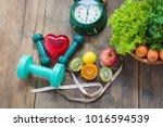 healthy food concept  fruits... | Shutterstock . vector #1016594539