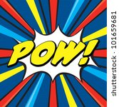 pow  pop art | Shutterstock .eps vector #101659681