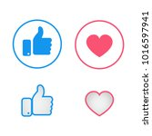 new like and love icons of... | Shutterstock .eps vector #1016597941