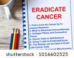 how to eradicate cancer concept ... | Shutterstock . vector #1016602525