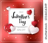 valentines day holiday sale... | Shutterstock .eps vector #1016616349