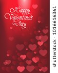 happy valentines day card with... | Shutterstock .eps vector #1016616361
