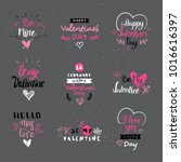 valentine day labels  badges... | Shutterstock .eps vector #1016616397