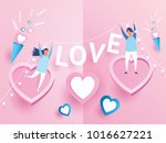 love couple. valentine's day... | Shutterstock .eps vector #1016627221