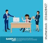 future business leader concept... | Shutterstock .eps vector #1016628427