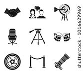 reunion icons set. simple set... | Shutterstock .eps vector #1016629969