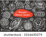 hand drawn chinese food on a... | Shutterstock .eps vector #1016630374
