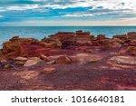 on gantheaume point  looking... | Shutterstock . vector #1016640181