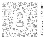 vector line concept for startup.... | Shutterstock .eps vector #1016640331
