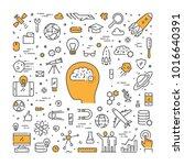 line web design concept for... | Shutterstock .eps vector #1016640391