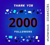2000 followers thank you post... | Shutterstock .eps vector #1016642281