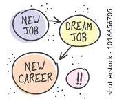 new job  new career poster or... | Shutterstock .eps vector #1016656705