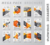 mega pack brochure design... | Shutterstock .eps vector #1016668045