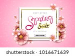 spring sale advertising banner... | Shutterstock .eps vector #1016671639