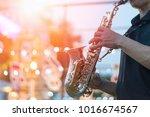 Jazz Festival. Saxophone  Musi...