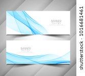 abstract wave style elegant... | Shutterstock .eps vector #1016681461