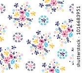 flower pattern elegance floral... | Shutterstock .eps vector #1016683951