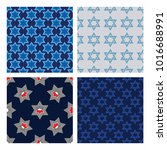 Seamless pattern of the Star of David, magen David, jewish symbol. For t-shirt design, poster, banner and other design.