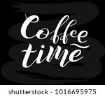 coffee time custom white... | Shutterstock .eps vector #1016695975