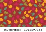 simple pattern with leaf shape... | Shutterstock .eps vector #1016697355