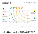 five analysis line charts slide ... | Shutterstock .eps vector #1016703997