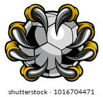 a monster or animal claw or... | Shutterstock .eps vector #1016704471
