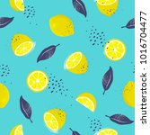 seamless pattern with slices... | Shutterstock .eps vector #1016704477