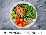 healthy buddha bowl lunch with... | Shutterstock . vector #1016707804