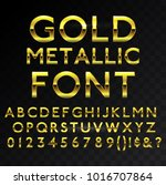 gold metallic glossy vector... | Shutterstock .eps vector #1016707864