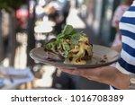 eggs benedict  breakfast at a...   Shutterstock . vector #1016708389