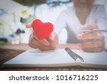 handwritten love letters and...   Shutterstock . vector #1016716225