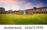 the zwinger palace and sunset... | Shutterstock . vector #1016717959