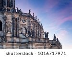 dresden cathedral of the holy... | Shutterstock . vector #1016717971