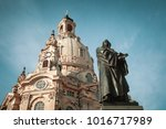 statue of martin luther and... | Shutterstock . vector #1016717989