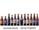 all trappists beer bottles... | Shutterstock . vector #1016726839