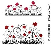 ornament with roses  vector... | Shutterstock .eps vector #1016727124