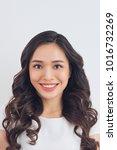 passport picture of an asian...   Shutterstock . vector #1016732269