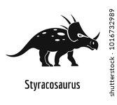 Styracosaurus Icon. Simple...