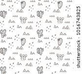 desert seamless pattern with...   Shutterstock .eps vector #1016743825