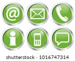 contact us  set of six white... | Shutterstock .eps vector #1016747314