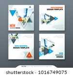 banner design. square abstract... | Shutterstock .eps vector #1016749075
