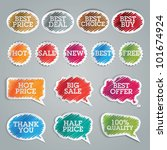 set of colorful vector stickers | Shutterstock .eps vector #101674924